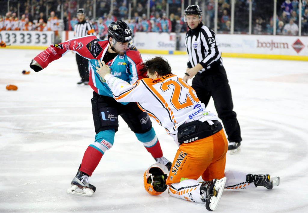 Belfast Giants v Sheffield Steelers - Elite Ice Hockey League