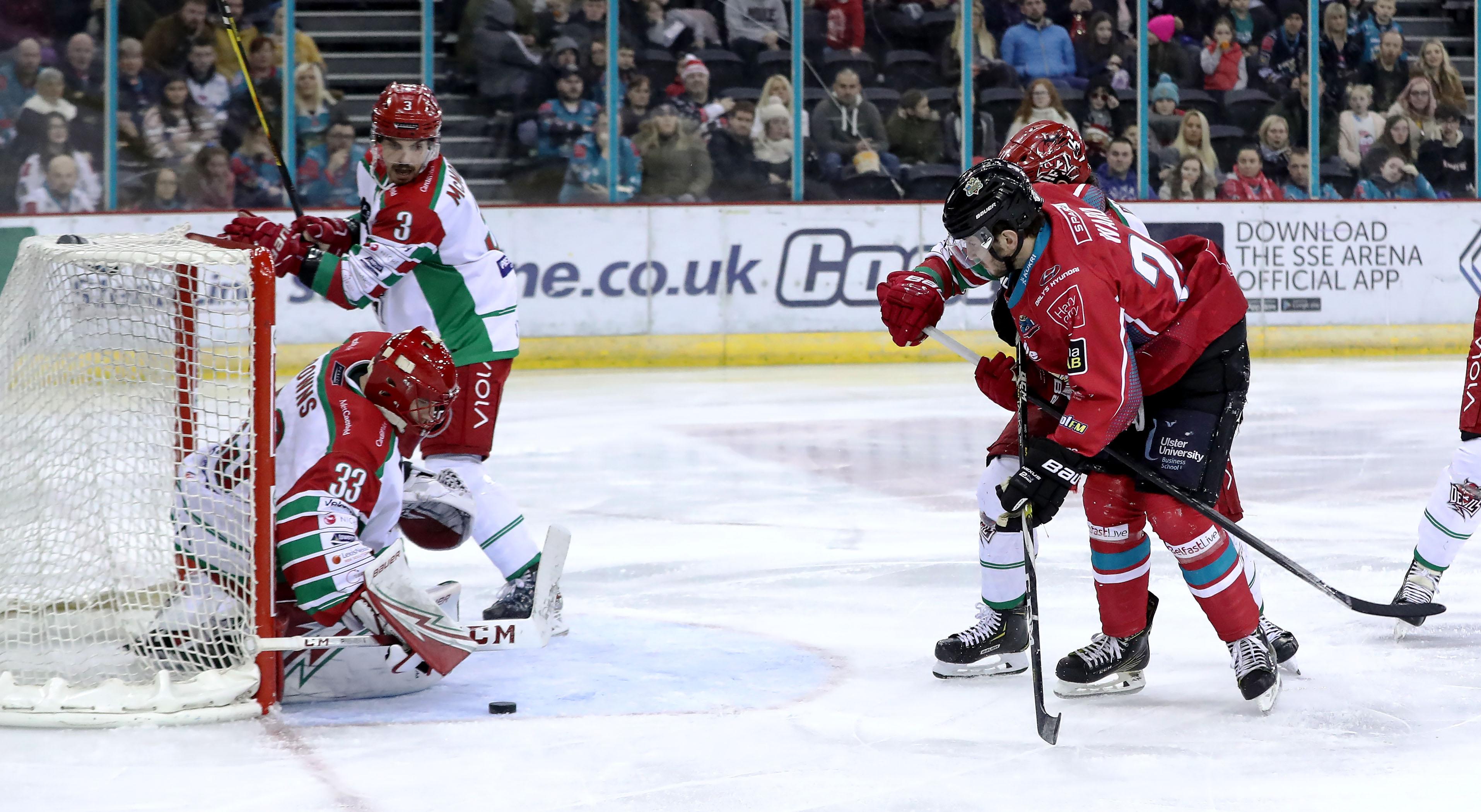 Belfast Giants v Cardiff Devils - Challenge Cup , Quarter-Final 1 Leg